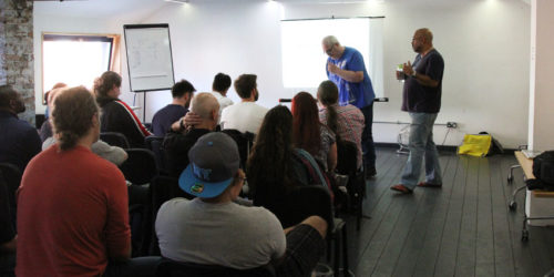 Photograph of attendees at MWUG August 16